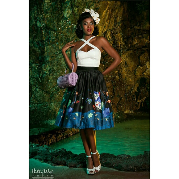 eb896941056f2 Mermaid Mexican Circle Skirt. M_5aa4c9072ab8c5f02d68b8f6. Other Skirts you  may like. Pinup Couture ...